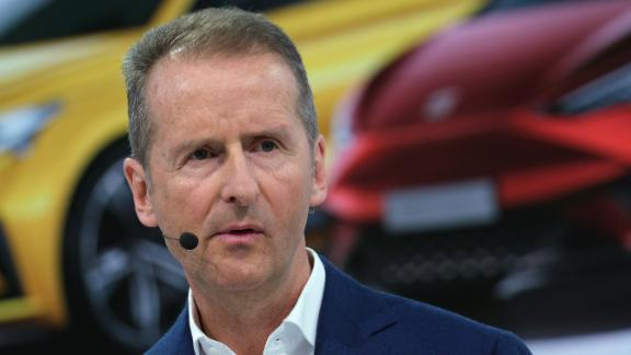 Herbert Diess, CEO of  Volkswagen AG, was charged on Tuesday.