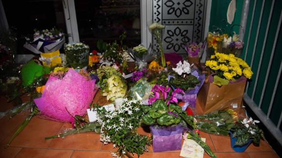 Flowers are placed on the front steps of the Wellington Masjid mosque in Kilbirnie in Wellington on March 15, 2019, after a shooting incident at two mosques in Christchurch. - Attacks on two Christchurch mosques left at least 49 dead on March 15, with one gunman -- identified as an Australian extremist -- apparently livestreaming the assault that triggered the lockdown of the New Zealand city. (Photo by Marty MELVILLE / AFP)        (Photo credit should read MARTY MELVILLE/AFP/Getty Images)