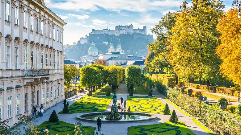"<strong>The world's 10 happiest countries. </strong>Austria nudged Australia out of the top 10 list this year, While Salzburg is famous for its ties to the real-life ""Sound of Music"" von Trapp family, it was also home to Wolfgang Amadeus Mozart and the Mirabell Gardens shown here (see the historic Fortress Hohensalzburg in the background)."