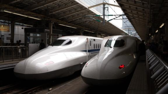 If you're traveling around Japan, then the bullet trains are a must. Their fastest operating speed is 200mph with an average delay of less than 60 seconds.