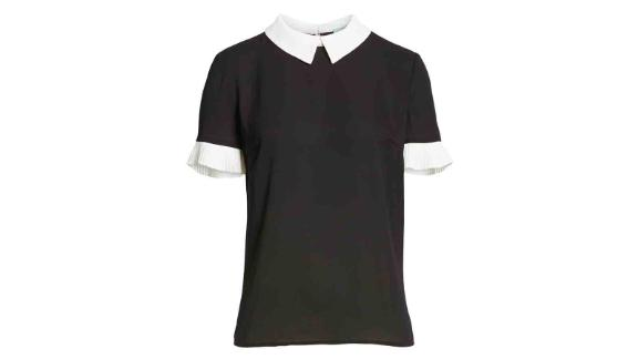 Cece Pleat Sleeve Collared Crepe Blouse ($79; nordstrom.com)