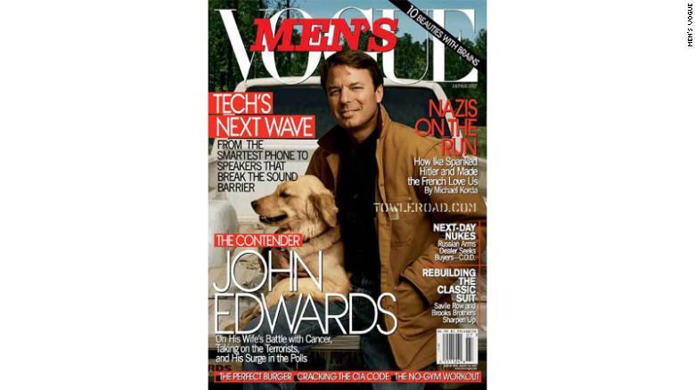 John Edwards on the July/August cover of Men's Vogue.  (PRNewsFoto/Men's Vogue) (Newscom TagID: prnphotos062921)     [Photo via Newscom]