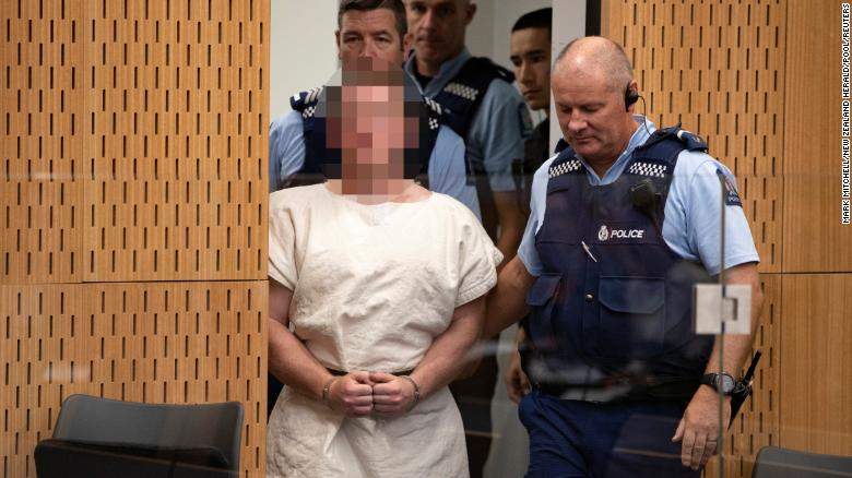 Brenton Tarrant appears in the Christchurch District Court. New Zealand requires that his face is pixelated.