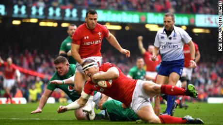 Hadleigh Parkes scored first for Wales aftr 80 seconds.