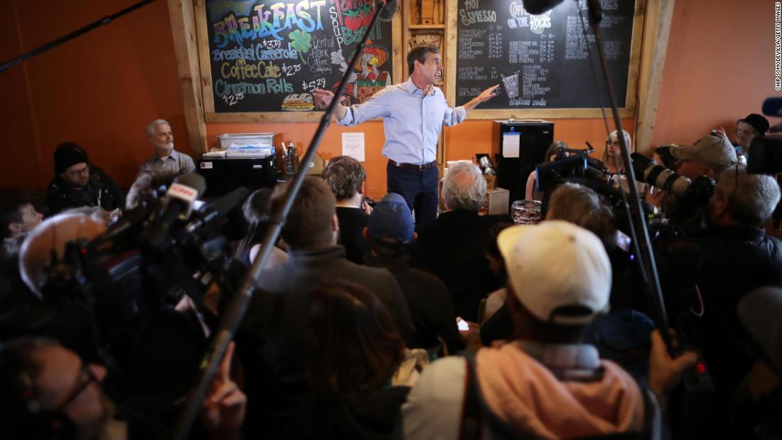 Beto O'Rourke raises $6.1 million his first day