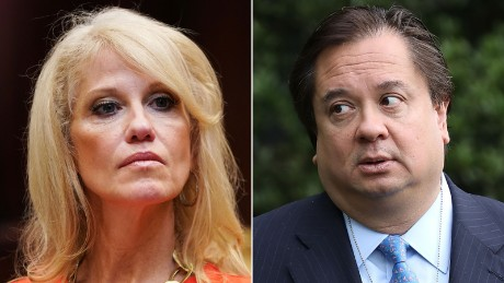 Kellyanne Conway's husband Trying to tell the public that Trump is mentally ill, she does not agree