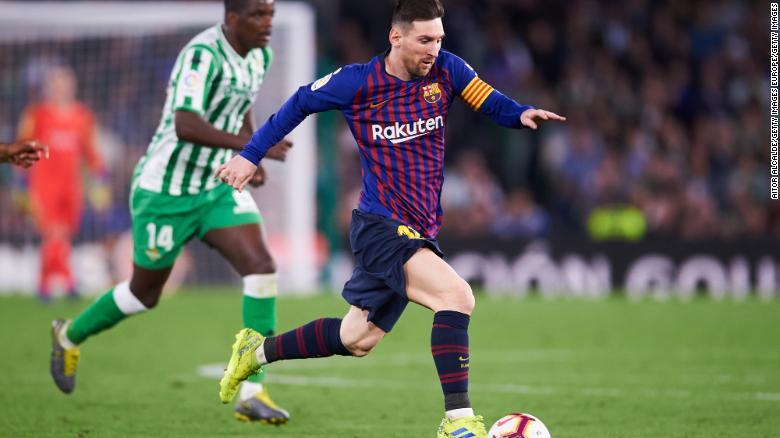 Barcelona's Lionel Messi has been in fine form in recent weeks.