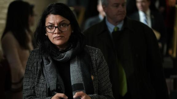U.S. Rep. Rashida Tlaib leaves after a caucus meeting at the U.S. Capitol January 9, 2019 in Washington, DC. (Alex Wong/Getty Images)