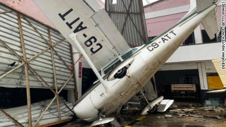 The airport in Beira, Mozambique, was damaged during Cyclone Idai.