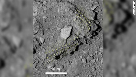 Ryugu has an unusually low albedo, or reflectance, of 2 percent, so to our eyes it is blacker than coal. Hayabusa2's cameras are especially sensitive in order to resolve fine details.