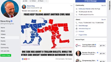 Steve King shares meme touting red states in potential modern-day