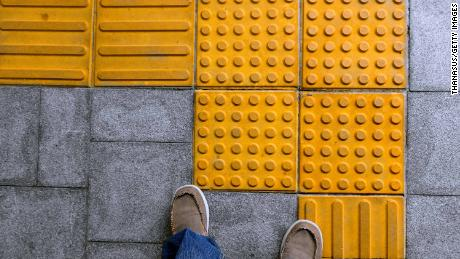 Tactile blocks invented by Seiichi Miyake hep the visually impaired to navigate public spaces.