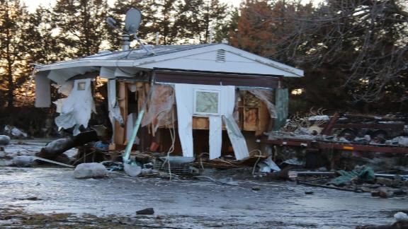 The Ruzickas' farm suffered severe losses when water and ice tore through Pischelville, Nebraska.