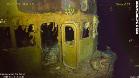 The bridge of the USS Wasp has been on the ocean floor for more than seven decades.
