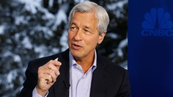Jamie Dimon, chairman, president and CEO of JP Morgan Chase, in an interview at the annual World Economic Forum in Davos, Switzerland, on January 20, 2016.