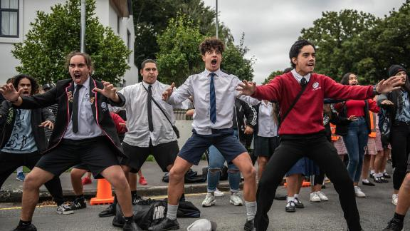 CHRISTCHURCH, NEW ZEALAND - MARCH 18: Youngsters perform a Haka during a students vigil near Al Noor mosque on March 18, 2019 in Christchurch, New Zealand. 50 people were killed, and dozens are still injured in hospital after a gunman opened fire on two Christchurch mosques on Friday, 15 March. The accused attacker, 28-year-old Australian, Brenton Tarrant, has been charged with murder and remanded in custody until April 5. The attack is the worst mass shooting in New Zealand's history. (Photo by Carl Court/Getty Images)