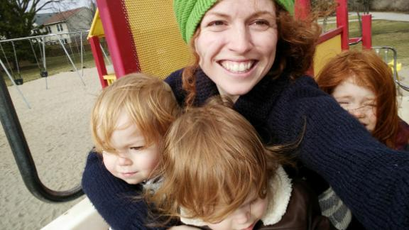 Anti-vaxers attacked Jill Promoli after the death of her son, Jude (left), who died of the flu.
