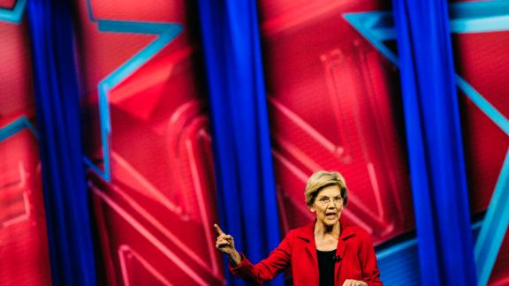 Jackson, MS - March 18, 2019 - Democratic presidential candidate Sen. Elizabeth Warren answered questions at a town hall moderated by CNN's Jake Tapper at Jackson State University.