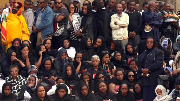 A mass funeral ceremony is held for victims of the Ethiopian Airlines crash at the Holy Trinity Cathedral in Addis Ababa, Ethiopia on March 17.