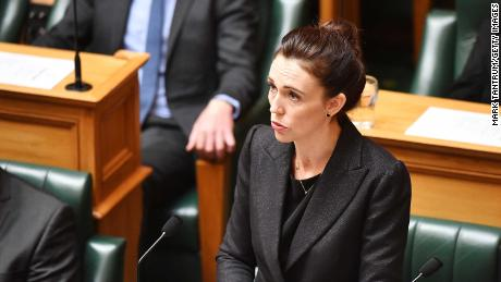Prime Minister Jacinda Ardern speaks to the house at Parliament on March 19, 2019 in Wellington, New Zealand.