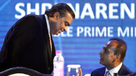 Mukesh, left, and Anil Ambani's fortunes have gone in vastly different directions in recent years.