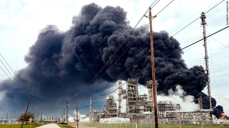 The fire at the Intercontinental Terminals Company in Deer Park burned for days.