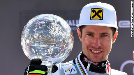SOLDEU, ANDORRA - MARCH 17: Marcel Hirscher of Austria takes 1st place in the overall standings during the Audi FIS Alpine Ski World Cup Men on March 17, 2019 in Soldeu Andorra. (Photo by Alain Grosclaude/Agence Zoom/Getty Images)