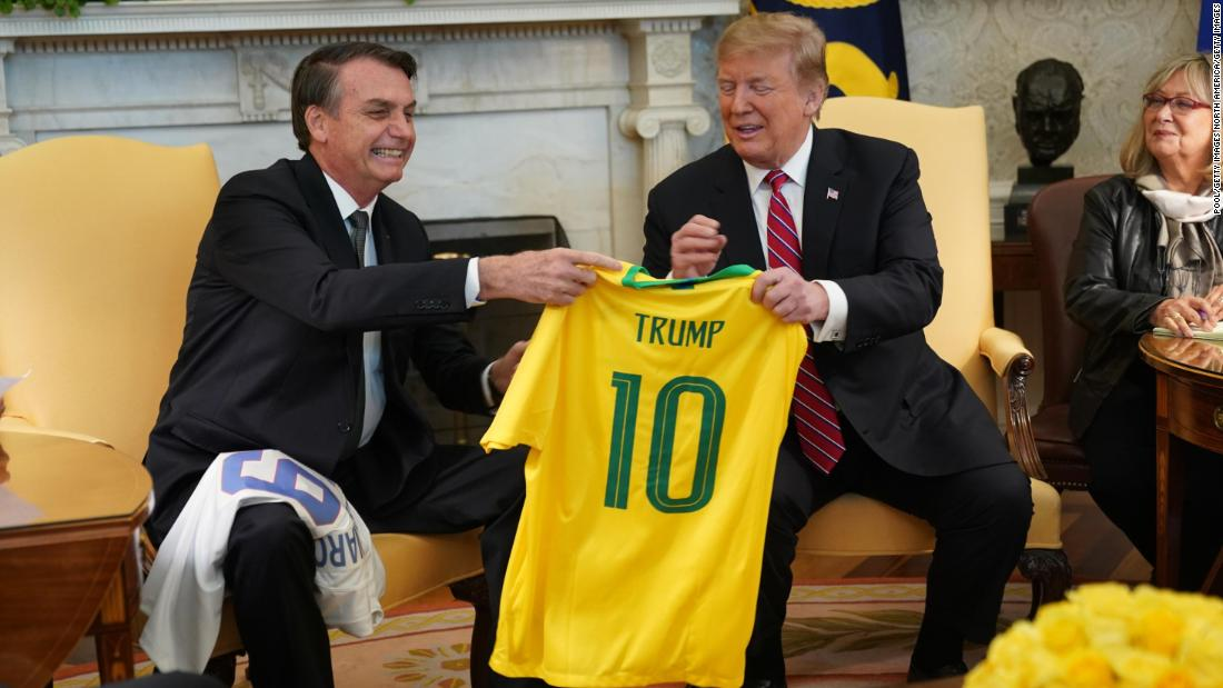 'Trump of the Tropics' fawns over US president and decries 'fake news'