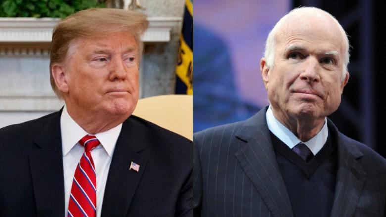 Image result for Republican senator calls Trump's McCain insults 'deplorable'