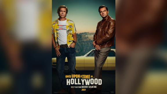 """The poster for """"Once Upon A Time In Hollywood"""" starring Brad Pitt and Leonardo DiCaprio."""