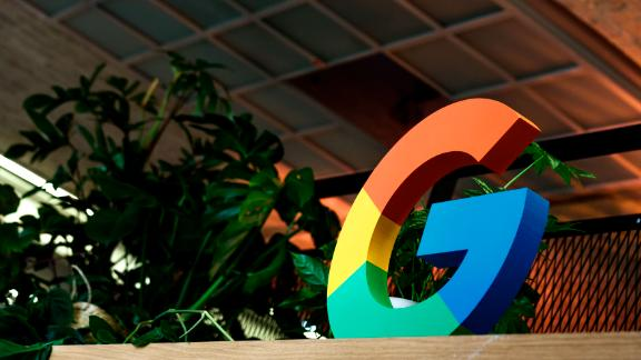 "BERLIN, GERMANY - JANUARY 22: A ""G"" sign is on display during the press tour before the festive opening of the Berlin representation of Google Germany on January 22, 2019 in Berlin, Germany. The official opening will take place tonight with Berlin Mayor Michael Mueller. (Photo by Carsten Koall/Getty Images)"