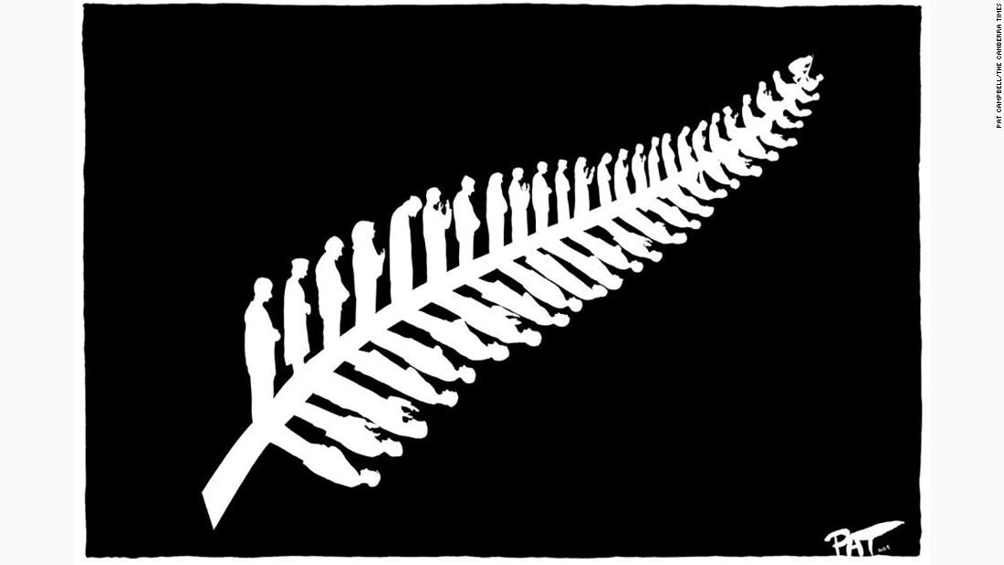 An illustration has become a symbol of resilience after the Christchurch terror attack