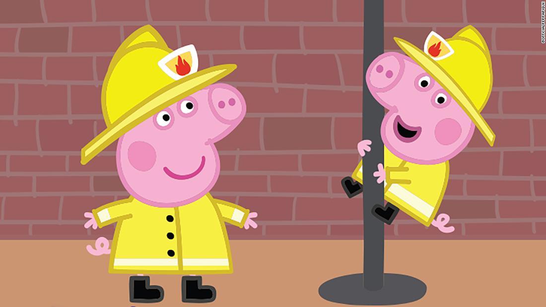 Peppa Pig: London firefighters blame sexist children's