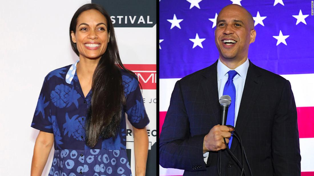 Booker says he is 'blessed' to be with Rosario Dawson
