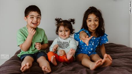 Kush Soni and his sisters: Keira and Shailee.