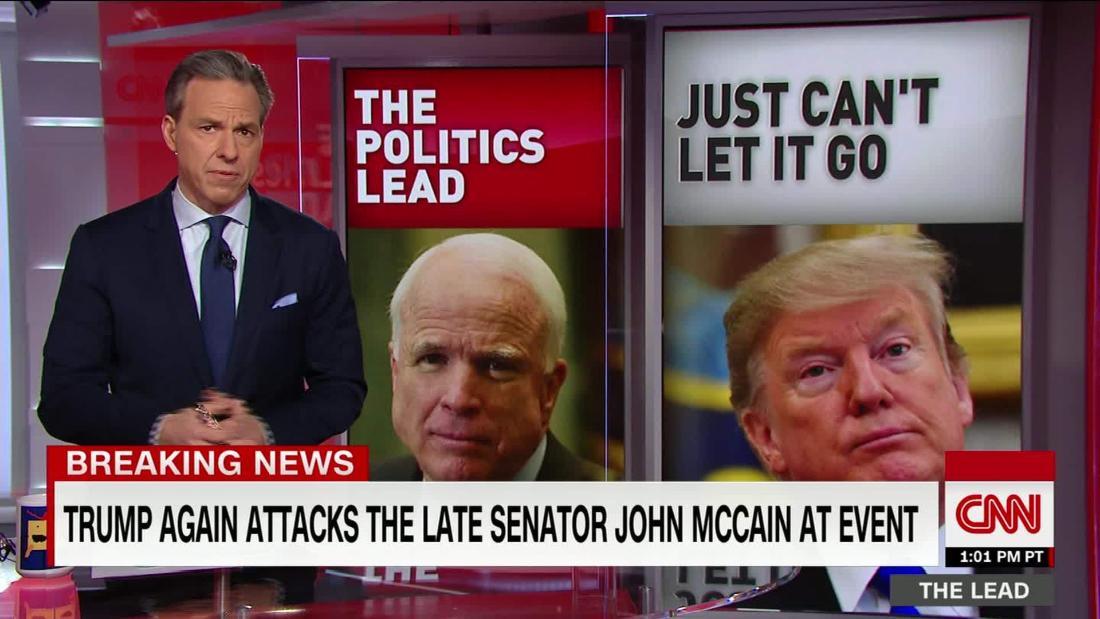Trump launches new attacks on Senator John McCain at rally