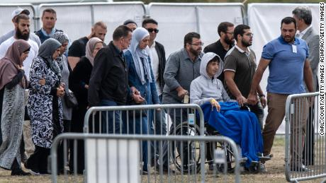 A Syrian refugee and his son are the first victims to be buried in Christchurch