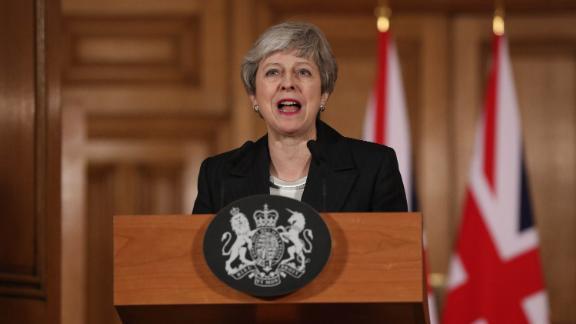 British Prime Minister, Theresa May addressing the nation on Wednesday night.