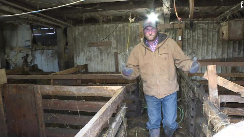 Eric Alberts said many hogs drowned in this barn.