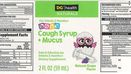 Consumers who bought the affected cough medicine can return it for a refund.