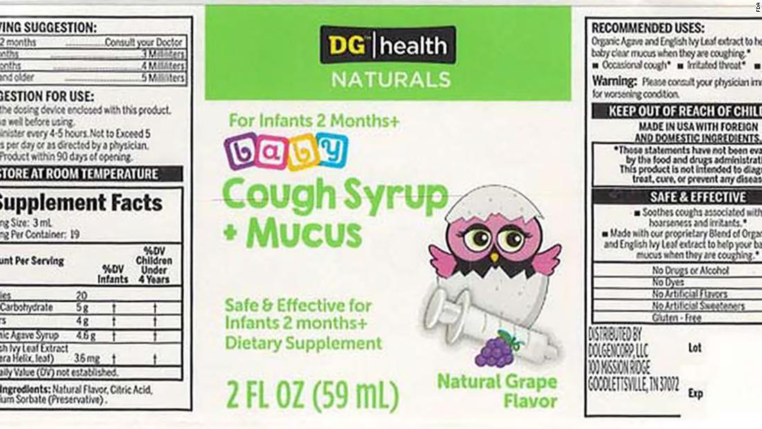 FDA recalls baby cough syrup