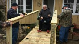 Firefighters build wheelchair ramp for one of their own