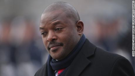 Burundi President Pierre Nkurunziza, here in 2012, is in his third term in office after facing large protests.