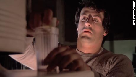 "Stallone & # 39; s character prepares his "" breakfast of champions "" in the film "" Rocky """