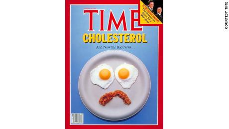 Time magazine has made its own statement on the egg debate with this disappointed face.
