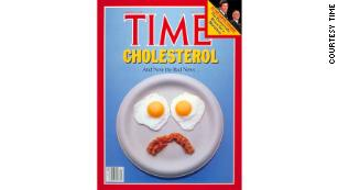 Time magazine made its own statement on the egg debate with this disappointed face.