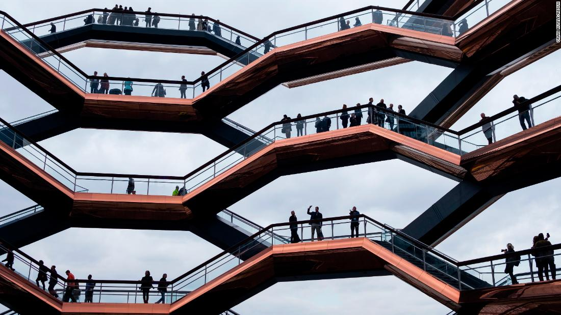 The Vessel, the public centerpiece of the Hudson Yards project, is opened to guests and the public for the first time on Friday, March 15, in New York City.