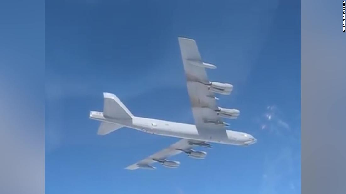 US B-52 bomber is caught on Russian camera