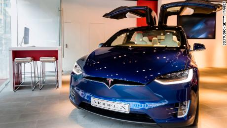 The Tesla Model X exhibited in Hong Kong. Tesla accused a former employee of stealing self-propelled technology and sharing it with Chinese rival Xiaopeng Motors.