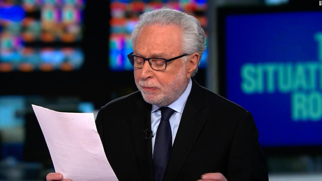 Wolf Blitzer reads Barr's letter regarding Mueller report